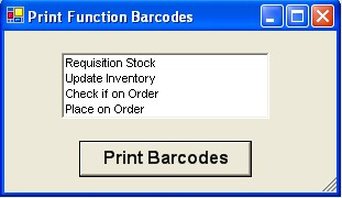 Barcode Functions